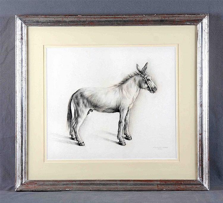 "BRAVO, CLAUDIO (1936-2011). ""Asno"". Pencil drawing, 37x43 cm. Dated MMVII a"