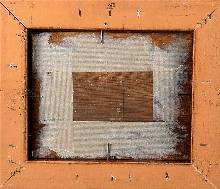 "MIR, JOAQUÍN (1873-1937). ""Marina"". Oil on board, 22x27 cm. Signed. It is a"