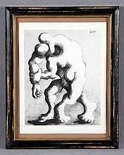 """LIPCHITZ, JACQUES (1891-1973). """"Camino del exilio"""". Lithographic print"""