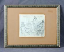 "NÉSTOR (1887-1938). ""Dibujando a la modelo"". Penci"