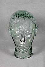 A CUT CRYSTAL HEAD