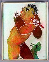 "GARCÍA RIPOLLÉS, JUAN. ""Orfeo"". Oil on canvas"