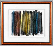 "ATTRIBUTED TO HANS HARTUNG. ""Composition"". Mixed technique on pasteboard"