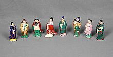 A SET OF EIGHT CHINESE PORCELAIN IMMORTALS, CIRCA 1940