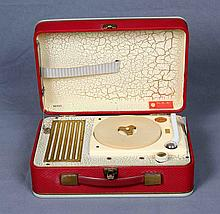 N.R.K. GERMAN PORTABLE SUITCASE RECORD PLAYER