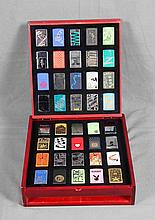 ZIPPO LIGHTER COLLECTION WITH DISPLAY CASE