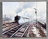 "CABALLERO, SALVADOR (1943-2006). ""El tren"". Oil on canvas, Salvador Caballero, €600"