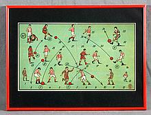 AN ANTIQUE TABLE SOCCER GAME BOX COVER