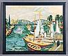 """NADAL, CARLOS (1917-1998). """"Puerto de Rotherdam"""". Color lithograph, Carlos Nadal, €130"""
