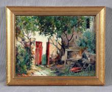 """VENTOSA, JOSÉ (1897-1982). """"Visión rural"""". Óleo so"""