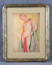 "FERNÁNDEZ DE LA TORRE, NÉSTOR (1887-1938). ""Desnud"