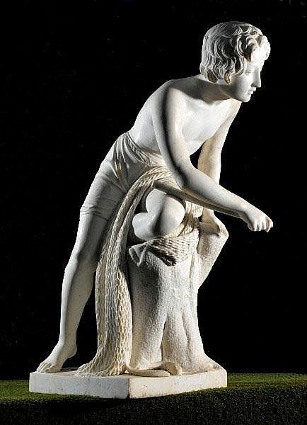 Carl Johann Steinhauser (1813-1879) A white marble