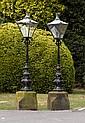 A pair of Victorian cast iron pier lanterns, circa