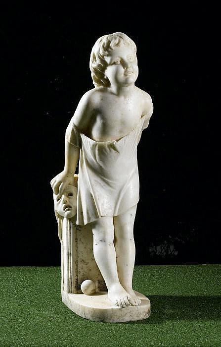 George Halse (1826-1895): A carved white marble