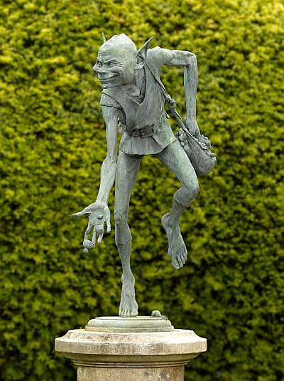 ? David Goode Snail Maker Bronze, variegated green