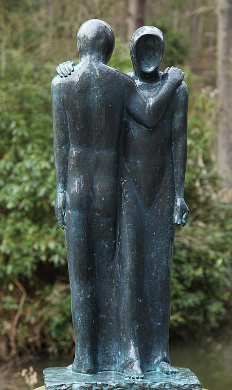 Bill Harling Born 1946 In Passing Bronze resin