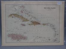 Antique Map - West India Islands - 1867