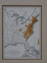 JULIUS BIEN - Map of Population Density of East