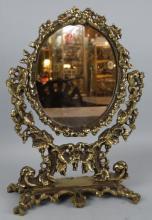 Vintage Bronze Vanity Mirror