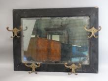 Antique Beveled Mirror Hat Rack
