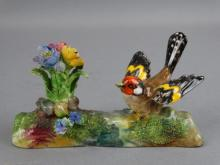 Crown Staffordshire Bird & Flower by J.T. Jones