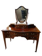 Antique Hepplewhite Mahogany Inlaid Vanity
