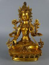 Chinese Bronze Guanyin