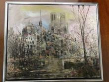 Oil on Canvas Painting - Cityscape