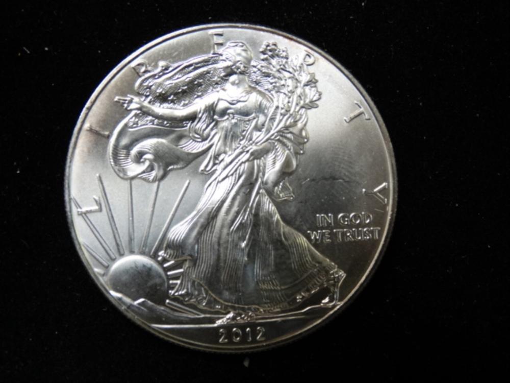 2012 American Silver Eagle 1 Oz Coin