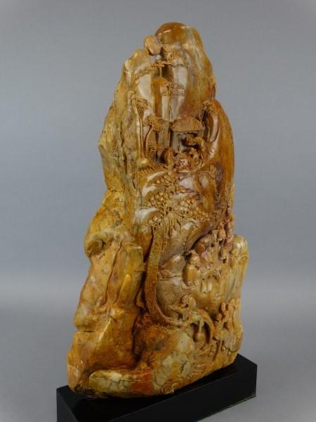 Shoushan stone carving w base