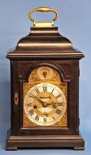 c.1760 Small English Ebonized Bracket Clock