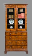 Antique George I Walnut Secretaire Bookcase