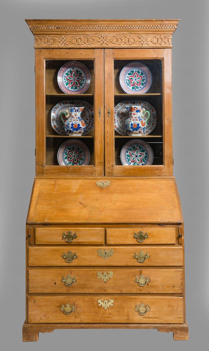 Antique George III Bureau Bookcase