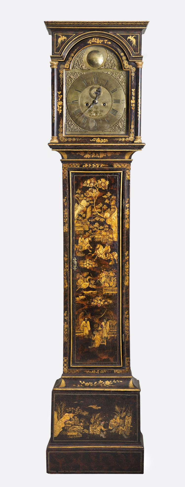 18th Century Lacquered Tall Case Clock