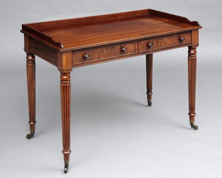 English Antique Gillows Style Writing Table