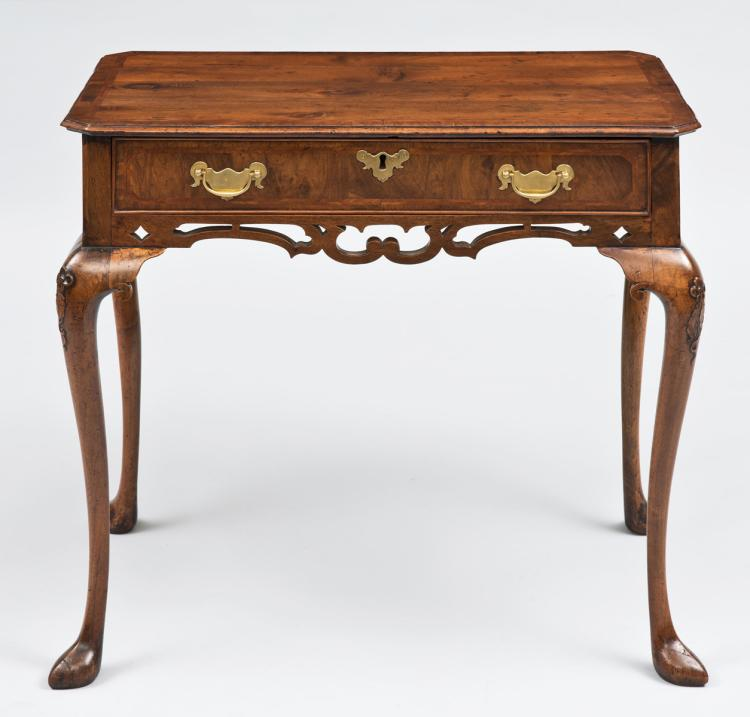 Queen Anne Walnut Side Table, Circa 1710