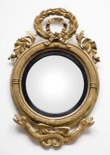 American Federal Giltwood Convex Mirror