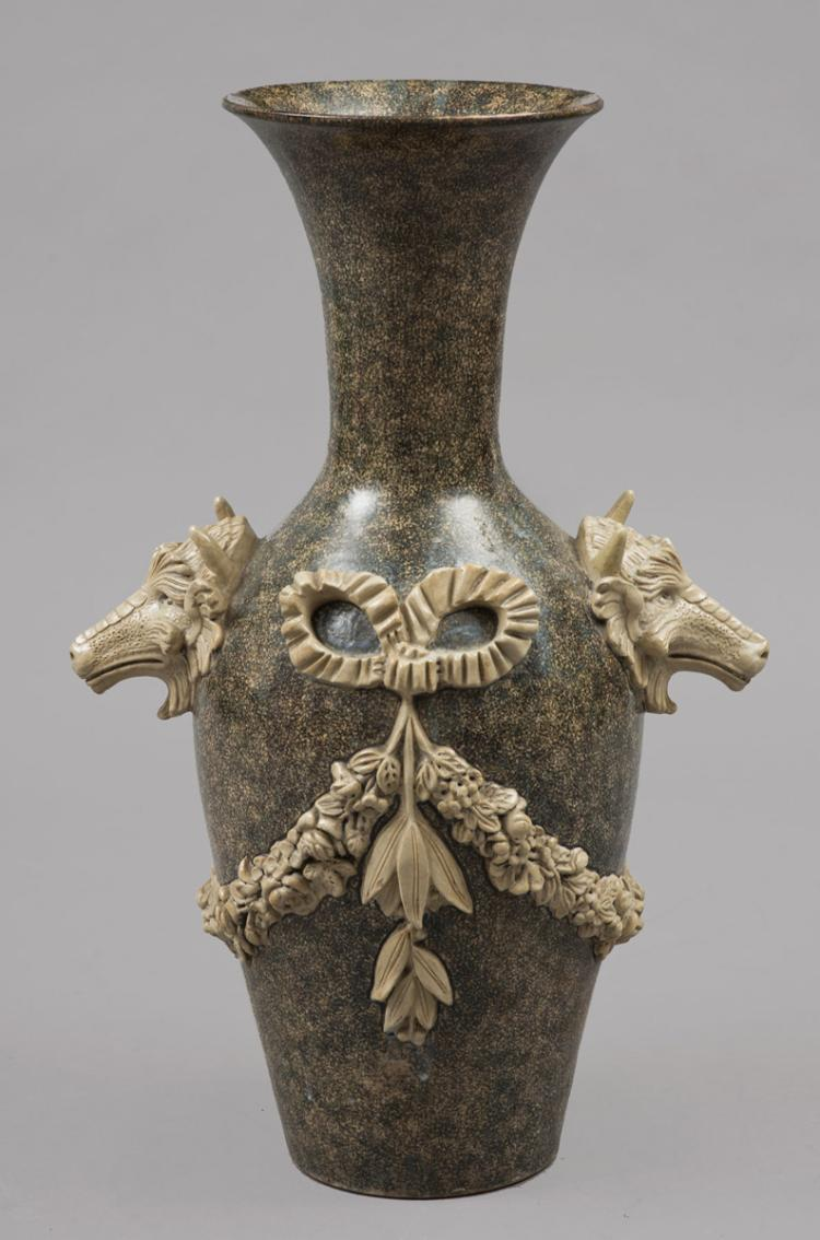 English Lipscombe Stoneware Vase, Circa 1860