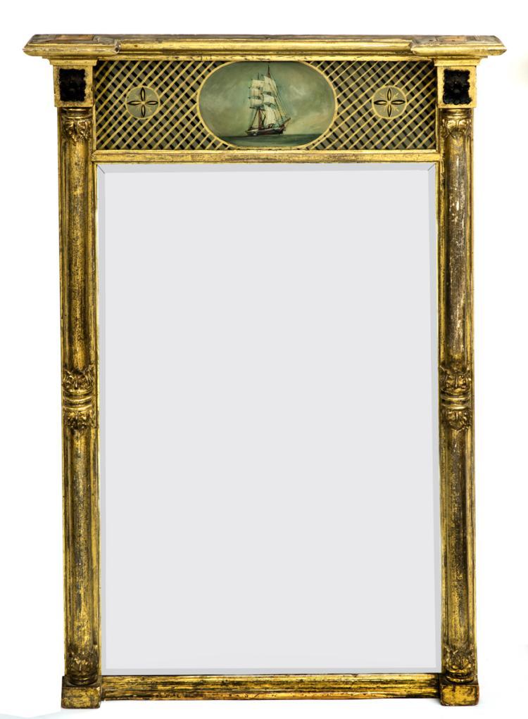 Regency Giltwood Pier Mirror, Circa 1810