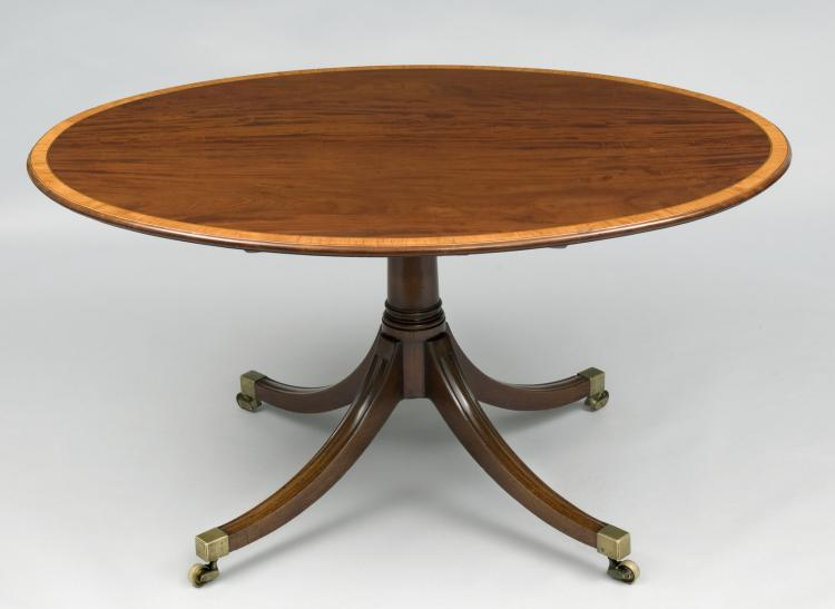 Sheraton Period Oval Center Table 18th Century