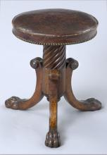 English Regency Revolving Piano Stool