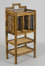 Antique Bamboo Bookcase