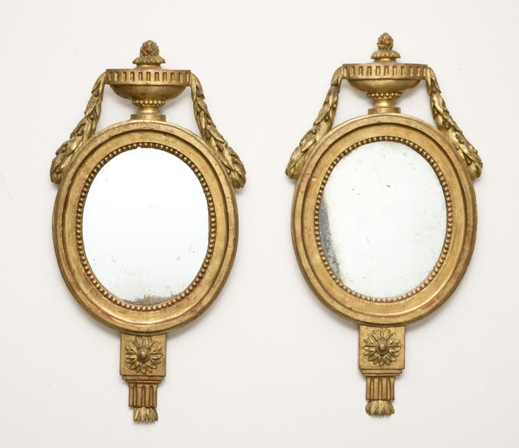 Pair Italian Giltwood Mirrors, Circa 1810