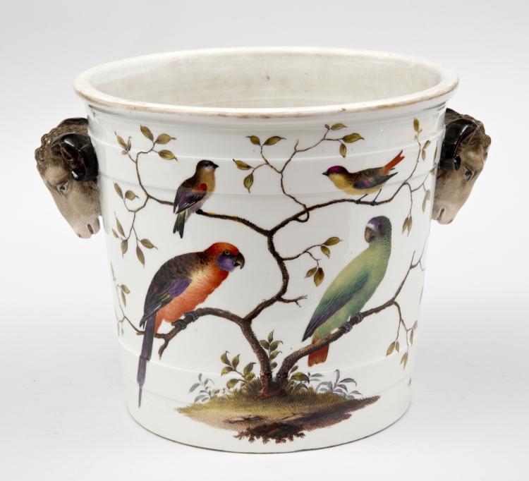 Antique German Porcelain Jardiniere, Circa 1870