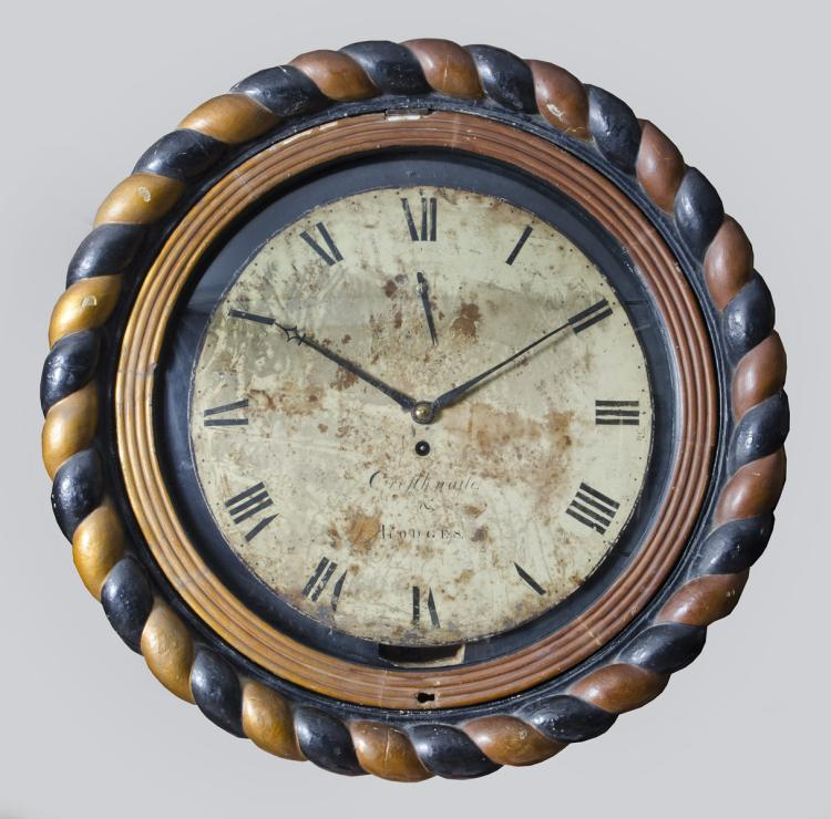 Georgian Irish Wall Clock, Circa 1820