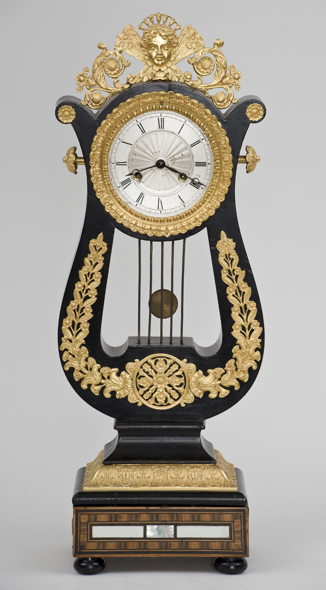 French 8-Day Gilded Mantle Clock, Circa 1870