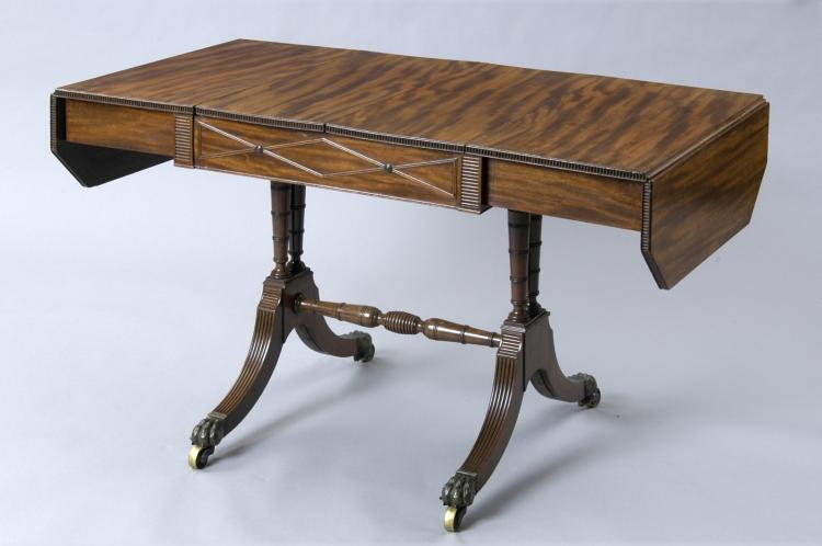 Very Fine Regency Period Sofa Games Table, Circa 1820