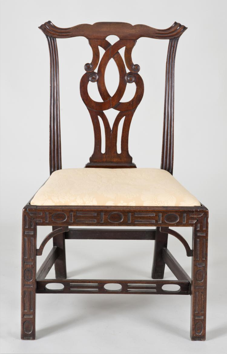 Georgian Chinese Chippendale Side Chair, Circa 1760