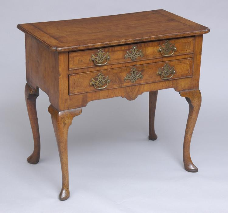 English Antique George I Period Walnut Lowboy