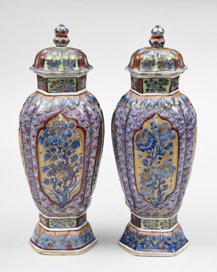 Fine Pair of Chinese Clobbered Vases, Circa 1700